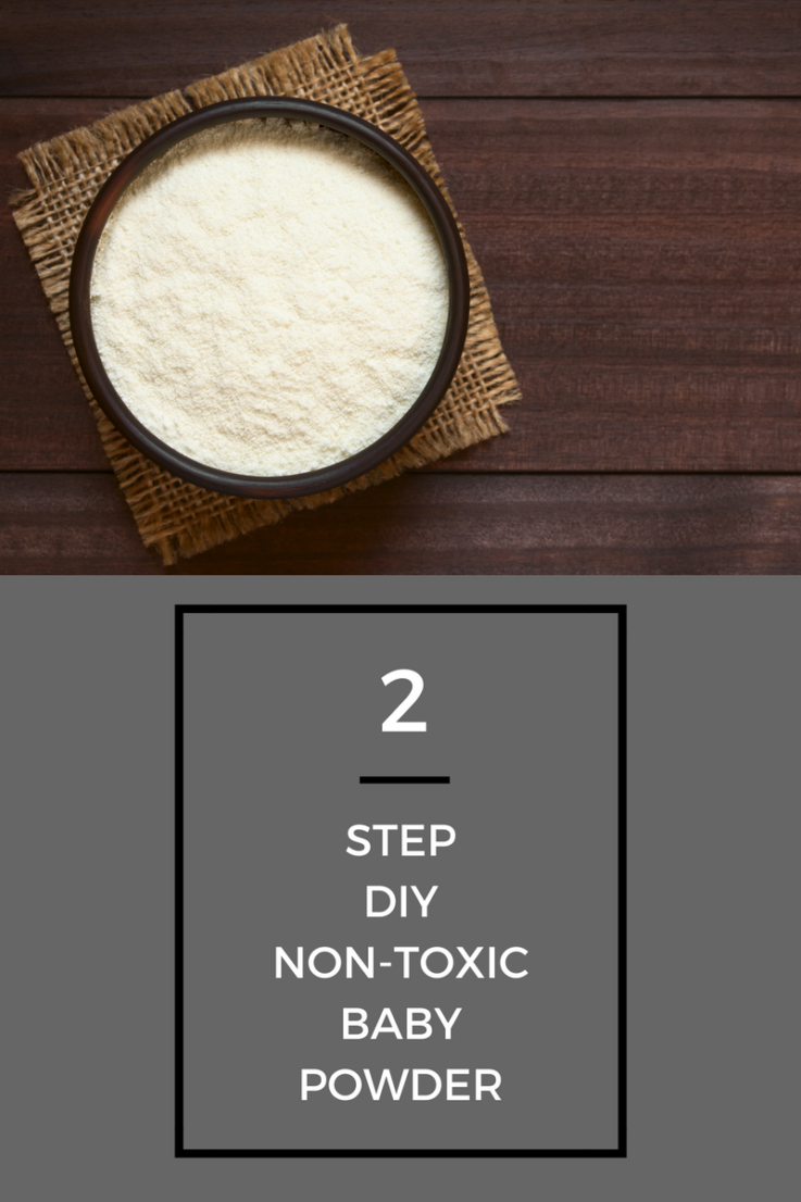 If you use the safest baby powder, it  can be one of the most useful tools, and this two-ingredient synthetics-free DIY is the safest option.