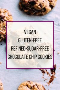 Vegan, GF, no sugar chocolate chip cookies