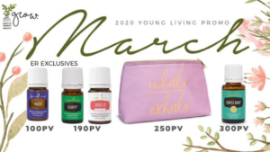 Young Living March 2020 Promos