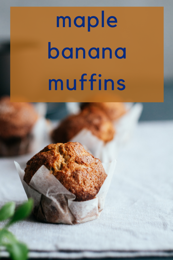 These banana maple muffins are quick, simple, and filling all while using ingredients we always have on hand making this a go-to!