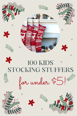 Here's the best 100 kids' stocking stuffers that all fall under the $5 mark that your kids will love for Christmas!