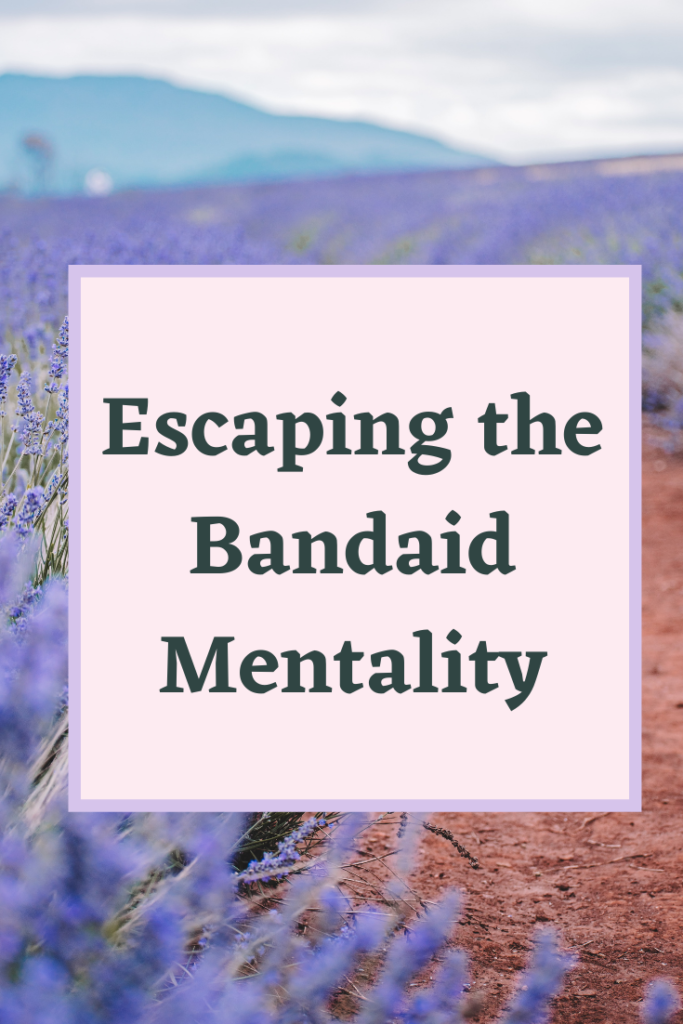 This post explains what the bandaid effect is, how it affects healthy living, and what you can do instead for your overall wellness.