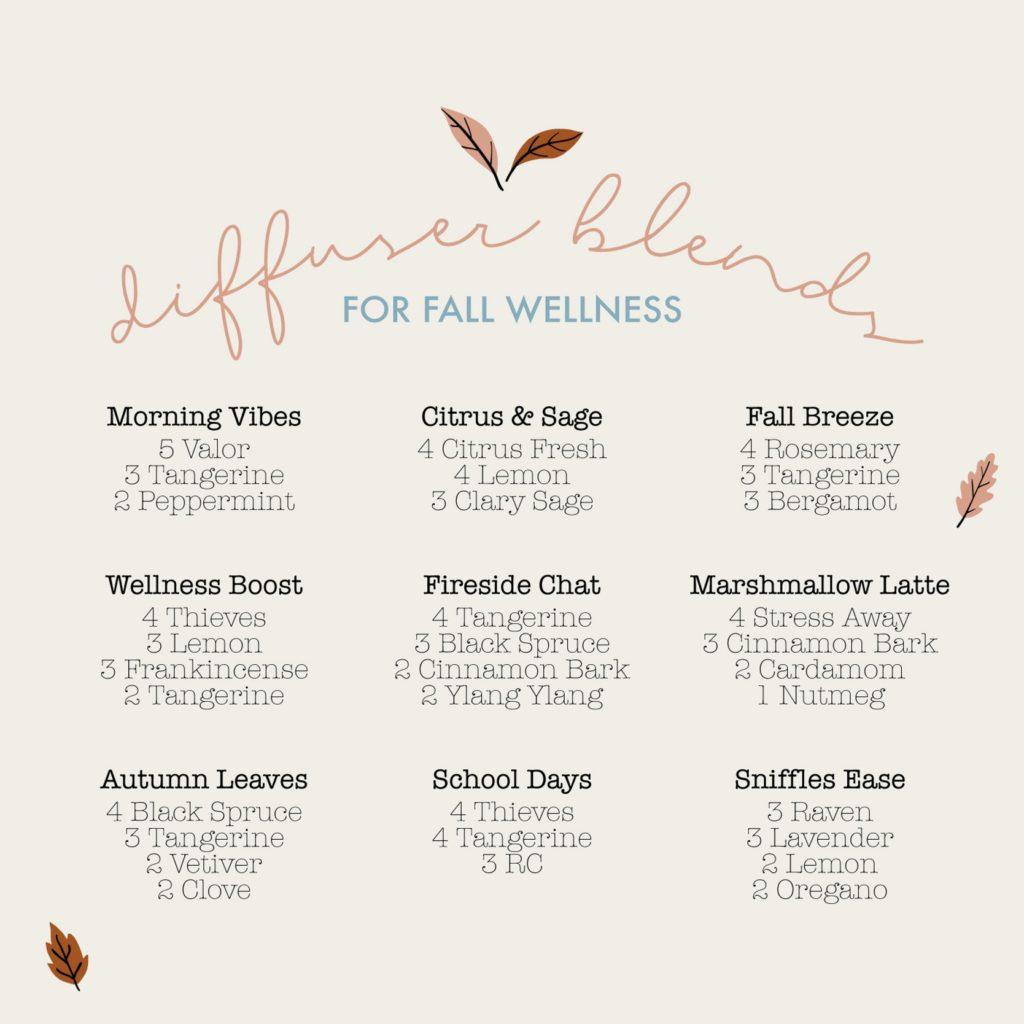 Diffuser Blends for Fall Wellness