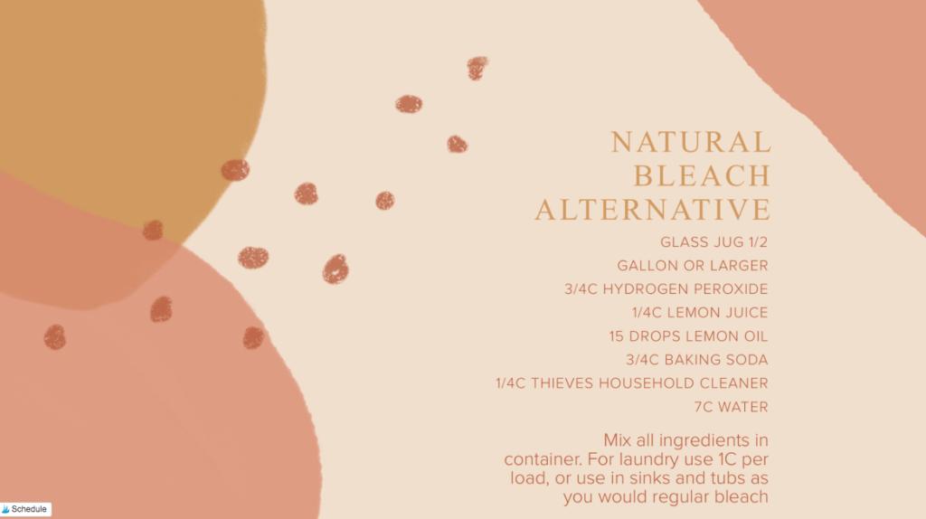 Natural bleach alternative that works.